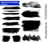 black ink vector brush strokes | Shutterstock .eps vector #722593783