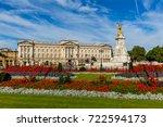 buckingham palace in london | Shutterstock . vector #722594173