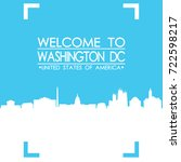 welcome to washington dc... | Shutterstock .eps vector #722598217