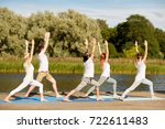 fitness  sport  yoga and... | Shutterstock . vector #722611483