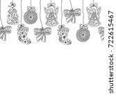 seamless christmas pattern.... | Shutterstock .eps vector #722615467