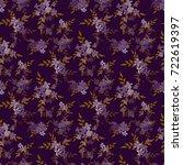 seamless floral pattern.... | Shutterstock .eps vector #722619397