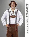 bavarian people on gary... | Shutterstock . vector #722624227
