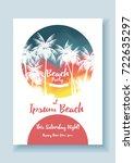 summer beach party poster...   Shutterstock .eps vector #722635297
