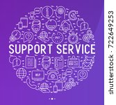 support service concept in... | Shutterstock .eps vector #722649253