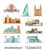 set of line commercial and... | Shutterstock .eps vector #722666233