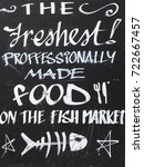 food announce   fish market | Shutterstock . vector #722667457