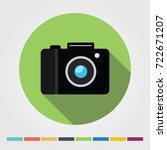 camera flat icon  long shadow.... | Shutterstock .eps vector #722671207