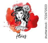 Aries. Zodiac Signs Girl