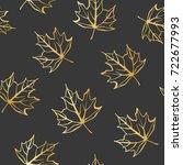 vector gold seamless background ... | Shutterstock .eps vector #722677993