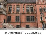 facade of the old town hall of... | Shutterstock . vector #722682583