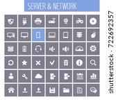 big computer networks icon set | Shutterstock .eps vector #722692357