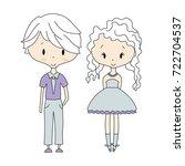 illustration of kids icons ... | Shutterstock . vector #722704537