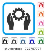 gear care hands icon. flat grey ... | Shutterstock .eps vector #722707777