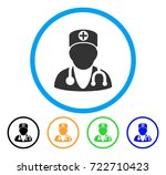 physician rounded icon. style... | Shutterstock .eps vector #722710423
