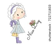 doll  illustration. beautiful...   Shutterstock . vector #722711833