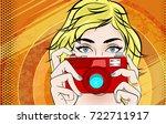 comic book pop art illustration ...   Shutterstock . vector #722711917