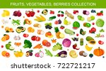 fruits  vegetables  berries ... | Shutterstock .eps vector #722721217