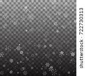 snowflake vector. falling... | Shutterstock .eps vector #722730313