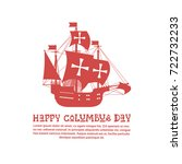 happy columbus day national usa ...   Shutterstock .eps vector #722732233