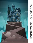 gothic castle house in... | Shutterstock .eps vector #722734723