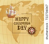 happy columbus day national usa ... | Shutterstock .eps vector #722736067