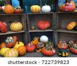 rare spooky pumpkins ready for... | Shutterstock . vector #722739823