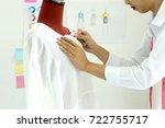 fashion designer work in the...   Shutterstock . vector #722755717