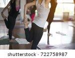 women exercising in fitness