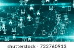 connected devices internet of... | Shutterstock . vector #722760913