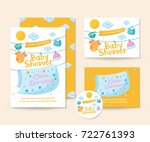 cute baby shower invitation... | Shutterstock .eps vector #722761393