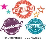 amazing  excellent and awesome... | Shutterstock .eps vector #722762893