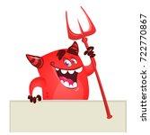 Cartoon Red Devil Monster...