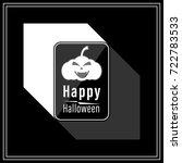 happy halloween modern style in ... | Shutterstock .eps vector #722783533