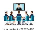 business people attending...   Shutterstock .eps vector #722784433