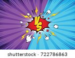 fight backgrounds comics style... | Shutterstock .eps vector #722786863
