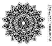 mandalas for coloring book.... | Shutterstock .eps vector #722794837