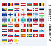 set of flags of all countries... | Shutterstock . vector #722800543