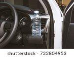 close up drinking water bottle...   Shutterstock . vector #722804953