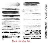 grungy brush strokes set over... | Shutterstock .eps vector #722810953
