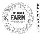 farming background. farm... | Shutterstock .eps vector #722811757