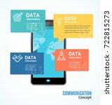 realistic 3d messenger... | Shutterstock .eps vector #722815273