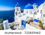 oia  santorini   greece. famous ...   Shutterstock . vector #722835463