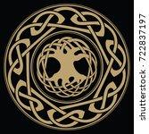 yggdrasil   the world tree ...   Shutterstock .eps vector #722837197