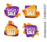 season sale  vector collection... | Shutterstock .eps vector #722842147