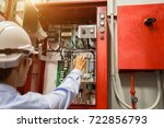 industrial fire control system... | Shutterstock . vector #722856793