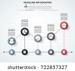 abstract infographics number... | Shutterstock .eps vector #722857327
