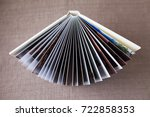 photo book with a cover of... | Shutterstock . vector #722858353