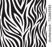 zebra seamless pattern. black... | Shutterstock .eps vector #722865583