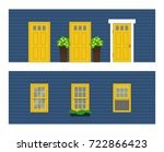 elements of architecture  ... | Shutterstock .eps vector #722866423